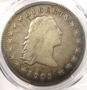 1795 FLOWING HAIR SILVER DOLLAR  $1 COIN    PCGS VF DETAILS    COIN