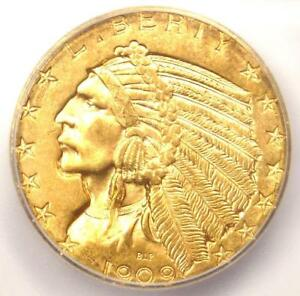 1909 D INDIAN GOLD HALF EAGLE $5 COIN   ICG MS64    IN MS64   $2 040 VALUE