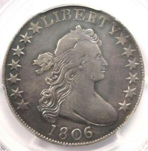 1806/5 DRAPED BUST HALF DOLLAR 50C COIN LARGE STARS   CERTIFIED PCGS VF DETAILS