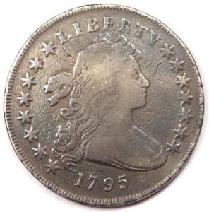 1795 DRAPED BUST SILVER DOLLAR $1   VG DETAILS  CLEANED / SMOOTHED     COIN