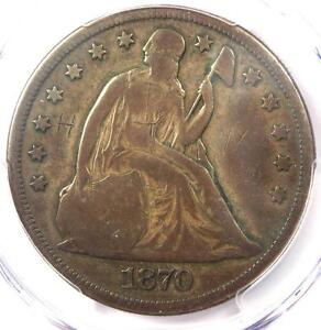1870 CC SEATED LIBERTY DOLLAR $1   PCGS VG DETAILS    CARSON CITY COIN