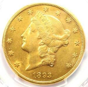 1893 CC LIBERTY GOLD DOUBLE EAGLE $20   PCGS AU DETAILS    CARSON CITY COIN