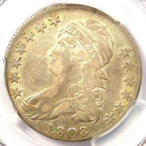 1808 CAPPED BUST HALF DOLLAR 50C O 107A   PCGS VF DETAILS      LOOKS XF