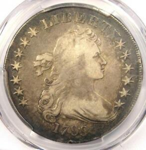 1799 DRAPED BUST SILVER DOLLAR $1 COIN   CERTIFIED PCGS FINE DETAIL