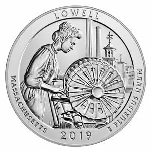 2019 LOWELL 5OZ SILVER ATB AMERICA THE BEAUTIFUL COIN GEMBU SKU57024