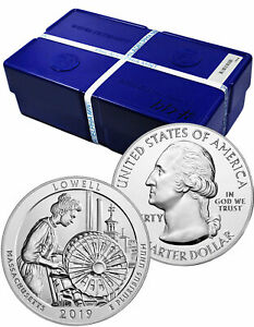 Click now to see the BUY IT NOW Price! BOX OF 100 2019 LOWELL 5 OZ SILVER ATB AMERICA BEAUTIFUL GEM BU COINS SKU57026