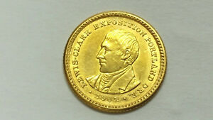1905 LEWIS & CLARK $1 GOLD XF DETAILS: SCRATCHES NO SPOTS STRONG LUSTER 733A