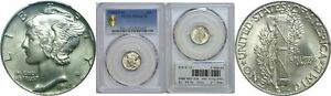 Click now to see the BUY IT NOW Price! 1942/1 D MERCURY DIME PCGS MS 64 FB