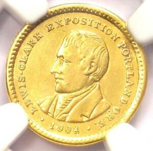 1904 LEWIS & CLARK GOLD DOLLAR G$1   CERTIFIED NGC AU DETAIL    COIN