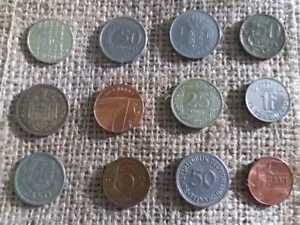 LOT2 OF 12 MIXED VINTAGE EUROPEAN COINS   COLLECTION FROM EUROPE   BARGAIN