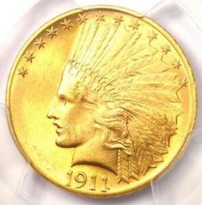 1911 INDIAN GOLD EAGLE  $10 COIN    PCGS MS64  PQ PLUS GRADE   $2 500 VALUE