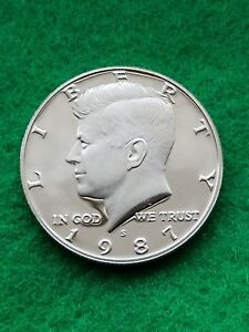 1987 S   KENNEDY HALF DOLLAR  CAMEO   UNCIRCULATED  PROOF   FREE SHIP