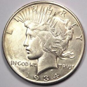 1934 S PEACE SILVER DOLLAR $1   EXCELLENT CONDITION    DATE