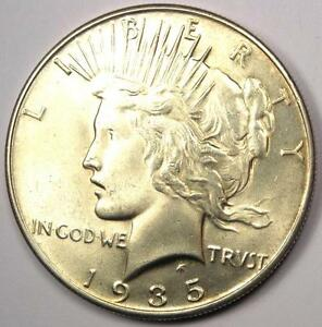 1935 PEACE SILVER DOLLAR $1   EXCELLENT CONDITION   NICE LUSTER    DATE