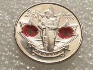1945 2010 CANADA 25 CENTS COIN COMMEMORATIVE