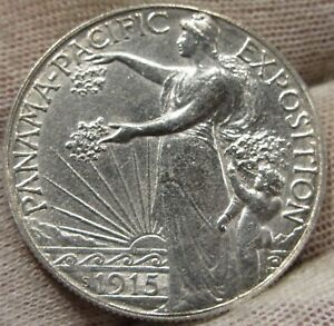 Click now to see the BUY IT NOW Price! 1915 PANAMA PACIFIC  BU UNCIRCULATED SILVER HALF DOLLAR   03161517PH