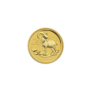 AUSTRALIAN SERIES II LUNAR GOLD ONE TWENTIETH OUNCE 2015 GOAT