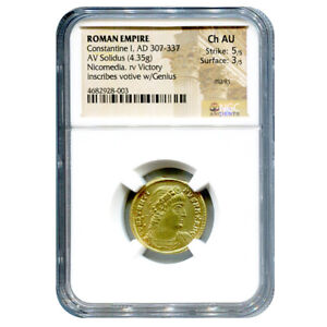 Click now to see the BUY IT NOW Price! ROMAN EMPIRE GOLD SOLIDUS CONSTANTINE I 307 337 A.D. AU NGC