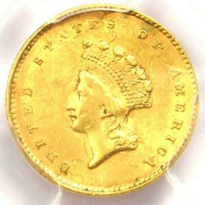 1855 TYPE 2 INDIAN GOLD DOLLAR  G$1 COIN    PCGS UNCIRCULATED DETAILS  UNC MS