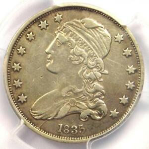 1835 CAPPED BUST QUARTER 25C   CERTIFIED PCGS XF DETAILS  EF     DATE COIN