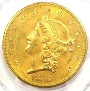 1856 S LIBERTY GOLD DOUBLE EAGLE $20 COIN   PCGS MS60  UNC    $6 250 VALUE
