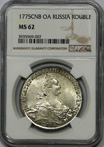 Click now to see the BUY IT NOW Price! RUSSIA:   ROUBLE 1775 CNB OA NGC MS62