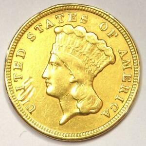 1854 INDIAN THREE DOLLAR GOLD COIN  $3    XF DETAILS  EF     COIN