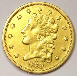 1839 O CLASSIC GOLD QUARTER EAGLE $2.50 COIN   XF DETAILS   NEW ORLEANS COIN