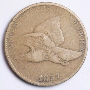 1857 FLYING EAGLE SMALL CENT CHOICE FINE   E128 EH