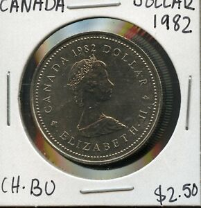 1982 CANADA 125TH CONFEDERATION   CONSTITUTION ANNIVER. COMMEM. $1 DOLLAR FC167