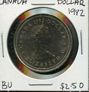 1982 CANADA 125TH CONFEDERATION   CONSTITUTION ANNIVER. COMMEM. $1 DOLLAR FC170