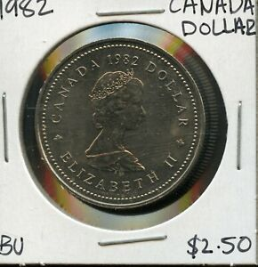 1982 CANADA 125TH CONFEDERATION   CONSTITUTION ANNIVER. COMMEM. $1 DOLLAR FC171