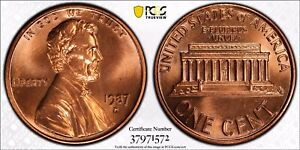 Click now to see the BUY IT NOW Price! 1987 D MEMORIAL CENT PCGS MS67 RD  TRUE VIEW