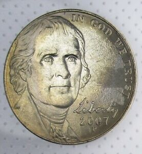 Click now to see the BUY IT NOW Price! 2007 P NICKEL  STRUCK THROUGH GREASE