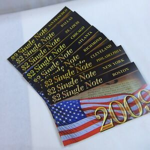 2009 $2 SINGLE NOTES SET  10 FEDERAL RESERVE BANKS  2003 A UNCIRCULATED