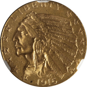 1916 S INDIAN GOLD $5 NGC MS61 NICE LUSTER NICE STRIKE