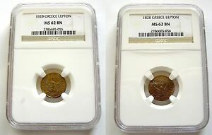 Click now to see the BUY IT NOW Price! GREECE CAPODISTRIAS 1 LEPTON 1828 NGC MS62 COIN & MEDAL ROTATION  VARIANT