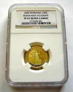 Click now to see the BUY IT NOW Price! ROMANIA 50 LEI 2006 GOLD NGC PF67 ACADEMY OWL  LIMITED EDITION  35 PIECES
