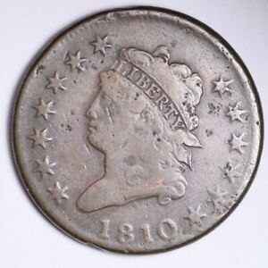 1810 CLASSIC HEAD LARGE CENT CHOICE VG  E107 JLL