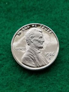 1986 S  UNCIRCULATED LINCOLN CENT/PENNY PROOF    FREE SHIP