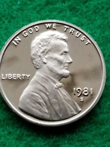 1981 S  UNCIRCULATED LINCOLN CENT/PENNY PROOF    FREE SHIP