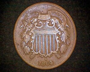 1864 TWO CENT PIECE 18163