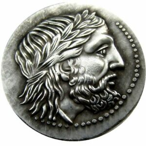 ANCIENT GREEK SILVER TETRADRACHM COIN OF KING PHILIP II OF MACEDON 323 BC COIN
