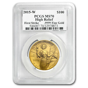 Click now to see the BUY IT NOW Price! 2015 HIGH RELIEF LIBERTY GOLD MS 70 PCGS  MOY/MERCANTI FS    SKU175555
