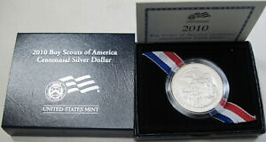 2010 P SILVER BOY SCOUTS OF AMERICAN IN ORIGINAL GOVERNMENT BOXES  224B