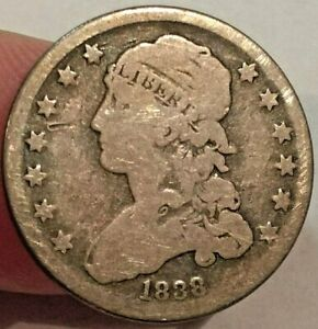 1838 CAPPED BUST SILVER QUARTER LOW MINTAGE NICE