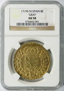 Click now to see the BUY IT NOW Price! 1719 S M SPAIN GOLD 8 ESCUDOS
