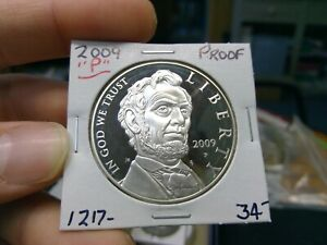 2009 P ABRAHAM LINCOLN SILVER DOLLAR   PROOF   90  SILVER   BEAUTIFUL DETAIL