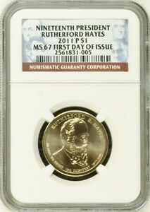 Click now to see the BUY IT NOW Price! 2011 P & D RUTHERFORD HAYES $1 FIRST DAY ISSUE MS67 NGC MS 67 FDI