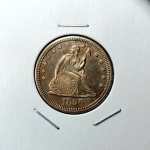 Click now to see the BUY IT NOW Price! 1856 O SEATED LIBERTY QUARTER   TYPE 2 NO MOTTO   GREAT LOOKING PIECE  TONE